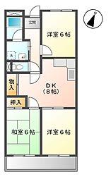 ファミーユ浅井[3階]の間取り