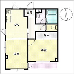 DT−1ビル[401号室]の間取り