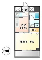 グランディール163[4階]の間取り