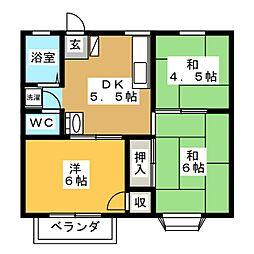 エスポアールモエ  B棟[2階]の間取り