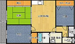 クレアジオーネ岸和田[3階]の間取り