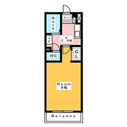 アップルヒルズ2[2階]の間取り