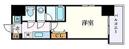 名古屋市営名城線 東別院駅 徒歩9分の賃貸マンション 4階1Kの間取り