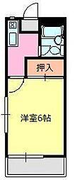第一荒井荘[1階]の間取り