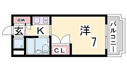 兵庫県神戸市長田区蓮宮通3丁目の賃貸マンションの間取り