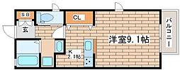 兵庫県神戸市長田区本庄町3丁目の賃貸アパートの間取り