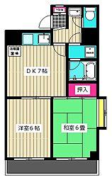 東京都大田区西糀谷3丁目の賃貸マンションの間取り