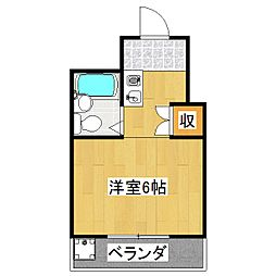 シャルトヤマハ[2階]の間取り