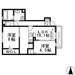 メゾンド・和[105号室号室]の間取り