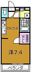 シャルムコート[2階]の間取り