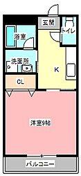 ヴィラ東田町[4階]の間取り