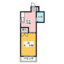 プチパレ[6階]の間取り