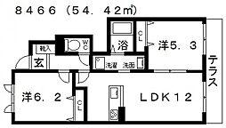 シャーメゾン恵我II[102号室号室]の間取り