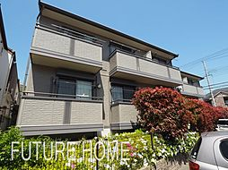 兵庫県神戸市東灘区西岡本5丁目の賃貸アパートの外観