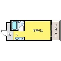 ダイドーメゾン岡本[4階]の間取り