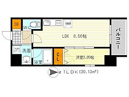 modern palazzo 江坂 AXIA 1[5階]の間取り