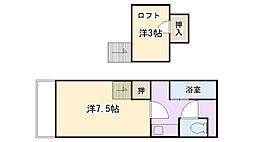 シャトレ隈I[2階]の間取り