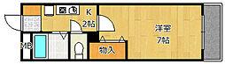 クレール宝塚2[1階]の間取り
