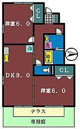 グリーンガーデン(金杉)[103号室]の間取り