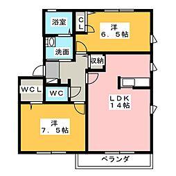 サニー長尾山[2階]の間取り