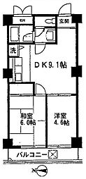 ストーク板橋区役所前[6階]の間取り