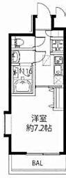 兵庫県西宮市上ケ原五番町の賃貸アパートの間取り