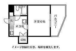第10片山ビル--[704号室]の間取り