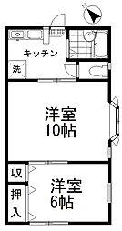 グリーンハウス[203号室号室]の間取り