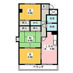 リバーサイド235[2階]の間取り