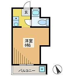 西府マンション[2階]の間取り