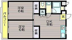 東京都世田谷区粕谷4の賃貸マンションの間取り