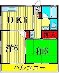 千葉県松戸市五香6丁目の賃貸アパートの間取り