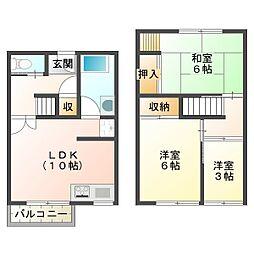 松ヶ丘住宅19号棟[2階]の間取り