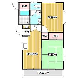 エイトバレーA・B[1階]の間取り
