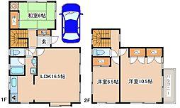 [一戸建] 兵庫県神戸市東灘区魚崎北町7丁目 の賃貸【/】の間取り