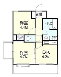 百合ヶ丘シティタワー[2階]の間取り