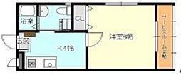 クリスタルハイツ3[2階]の間取り