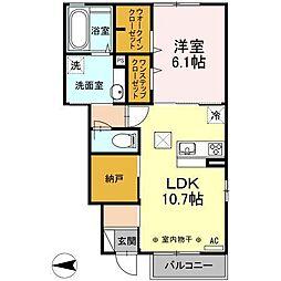 スヴァーラ新井田[1階]の間取り