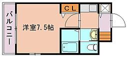 福岡県福岡市博多区東比恵1丁目の賃貸マンションの間取り