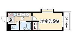 シャトルヨシモ[4階]の間取り