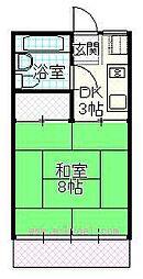 宮崎県宮崎市大淀2丁目の賃貸アパートの間取り
