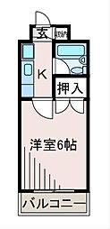 センチュリーハイツ三徳[6階]の間取り