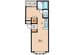 トリムI[2階]の間取り