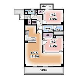 コントレール桜[201号室]の間取り