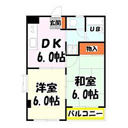 MKC西新井橋ハイツ[201号室]の間取り