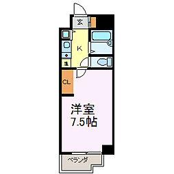 ラ・セプティマ鶴舞[4D号室]の間取り