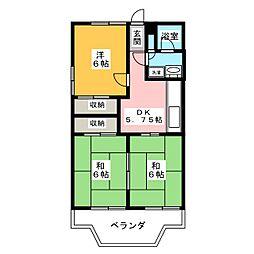 ハイツ藤崎[2階]の間取り
