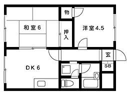 橋本マンション[402号室]の間取り