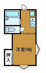 神奈川県相模原市南区上鶴間本町2丁目の賃貸アパートの間取り
