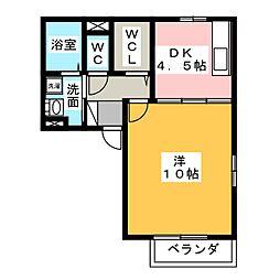 クレスト杉道[2階]の間取り